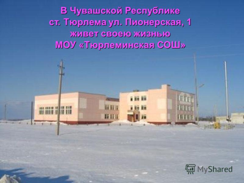 В Чувашской Республике ст. Тюрлема ул. Пионерская, 1 живет своею жизнью МОУ «Тюрлеминская СОШ»