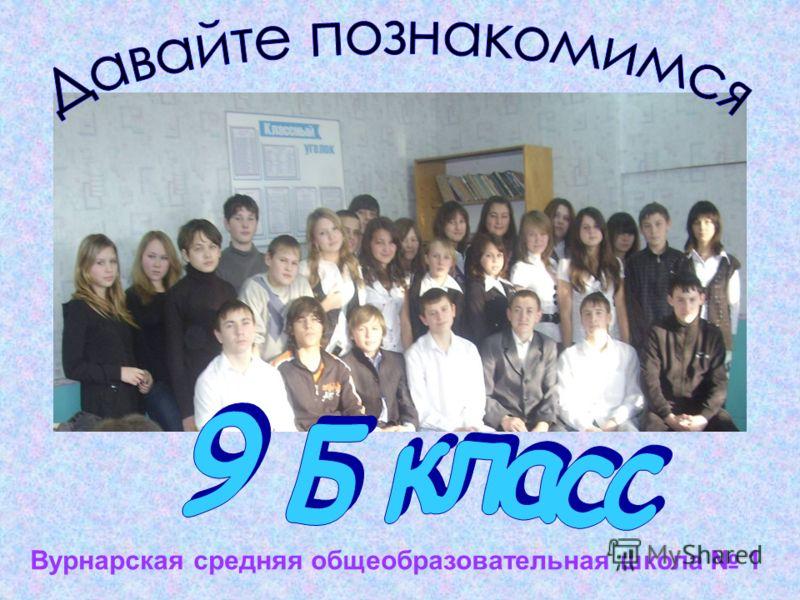 Вурнарская средняя общеобразовательная школа 1