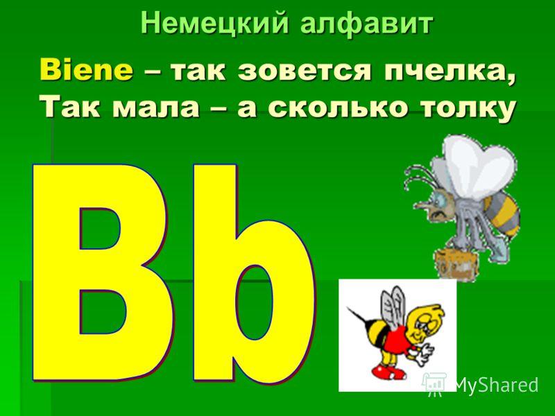 Biene – так зовется пчелка, Так мала – а сколько толку