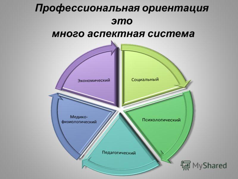 Профессиональная ориентация это много аспектная система