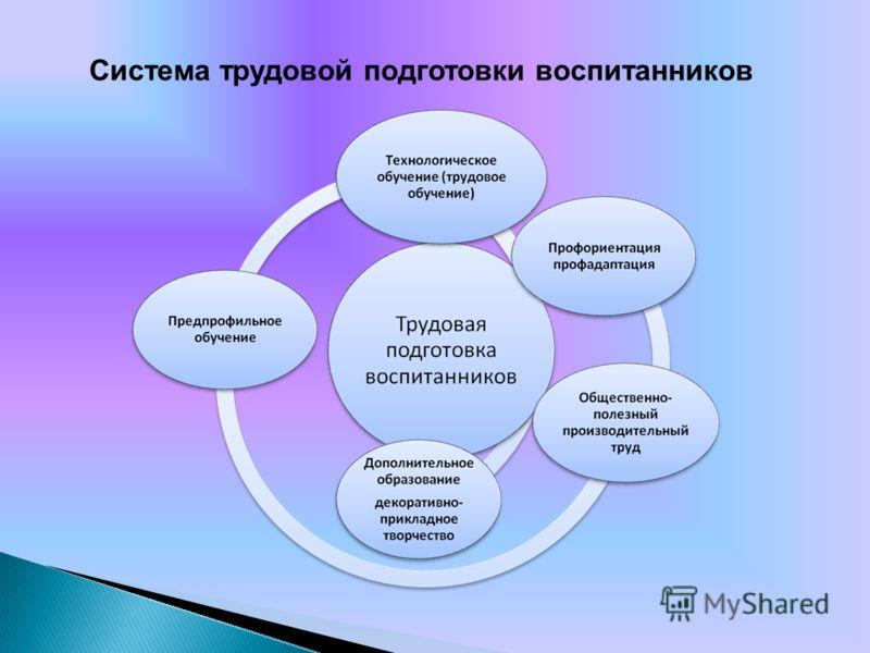 Система трудовой подготовки воспитанников