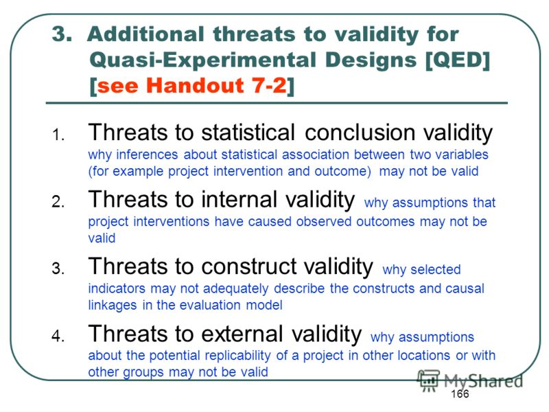 6. Additional reference material on threats to validity for quantitative evaluation designs [in English]