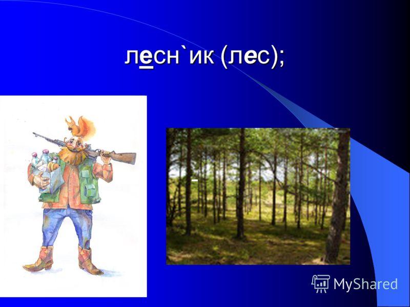 лесн`ик (лес); -