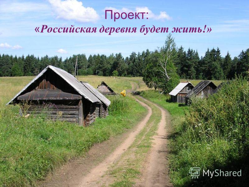 Проект: «Российская деревня будет жить!»
