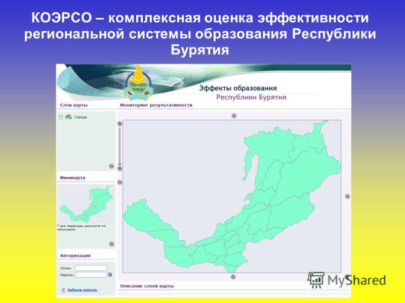 КОЭРСО – комплексная оценка эффективности региональной системы образования Республики Бурятия
