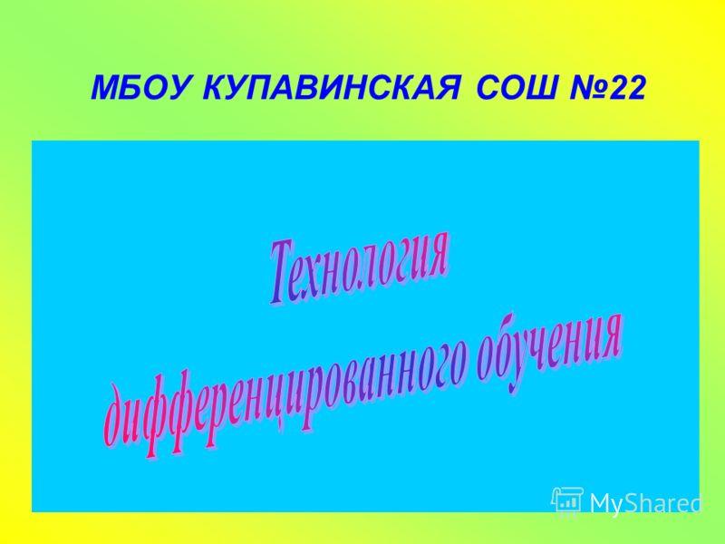 МБОУ КУПАВИНСКАЯ СОШ 22