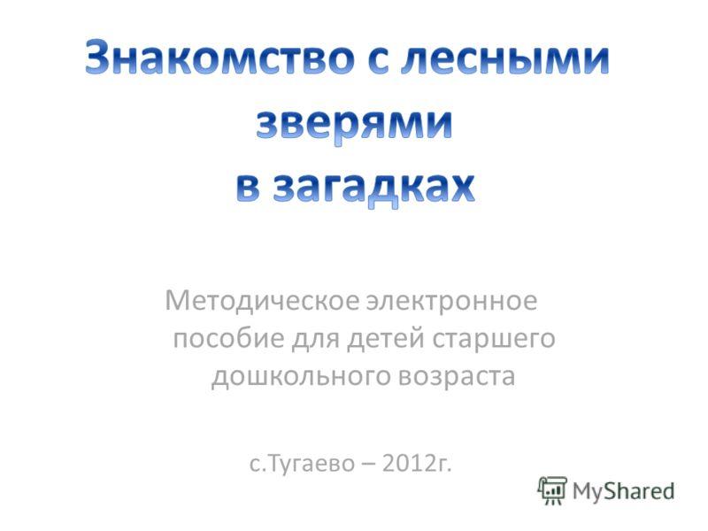 Методическое электронное пособие для детей старшего дошкольного возраста с.Тугаево – 2012г.