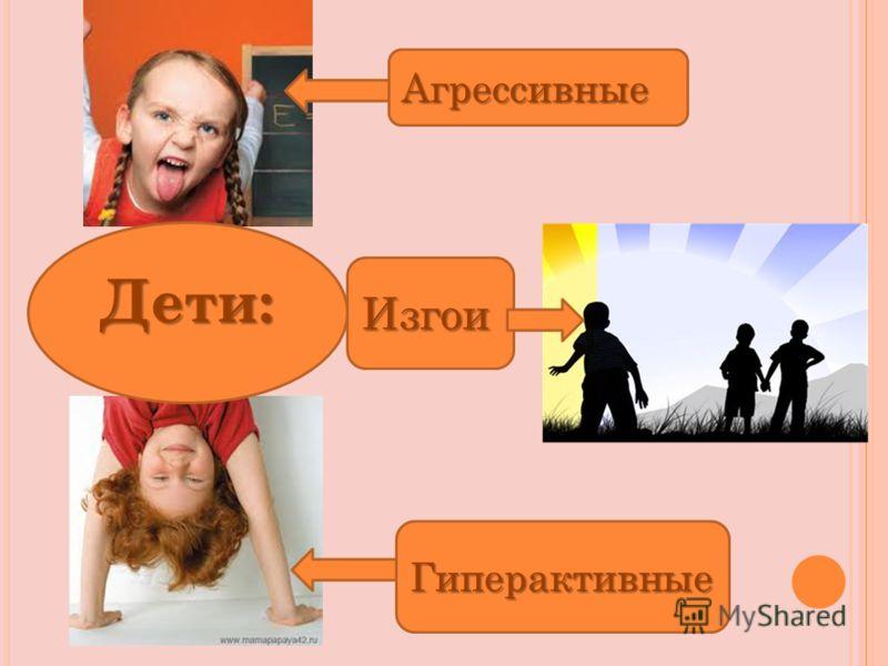 Агрессивные Гиперактивные Изгои Дети: