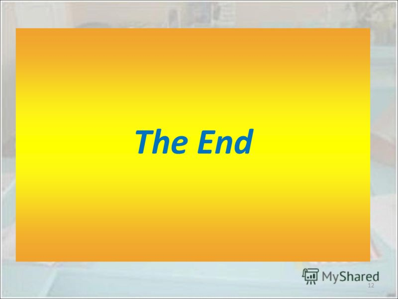 The End 12