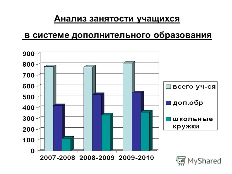 Анализ занятости учащихся в системе дополнительного образования
