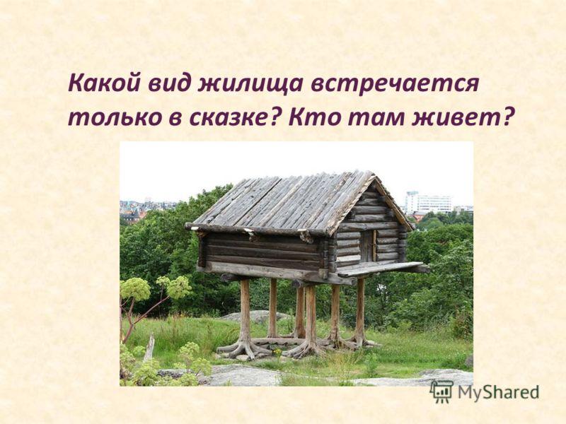 Какой вид жилища встречается только в сказке? Кто там живет?