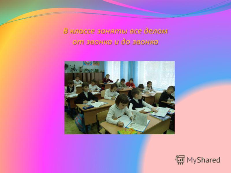 В классе заняты все делом от звонка и до звонка