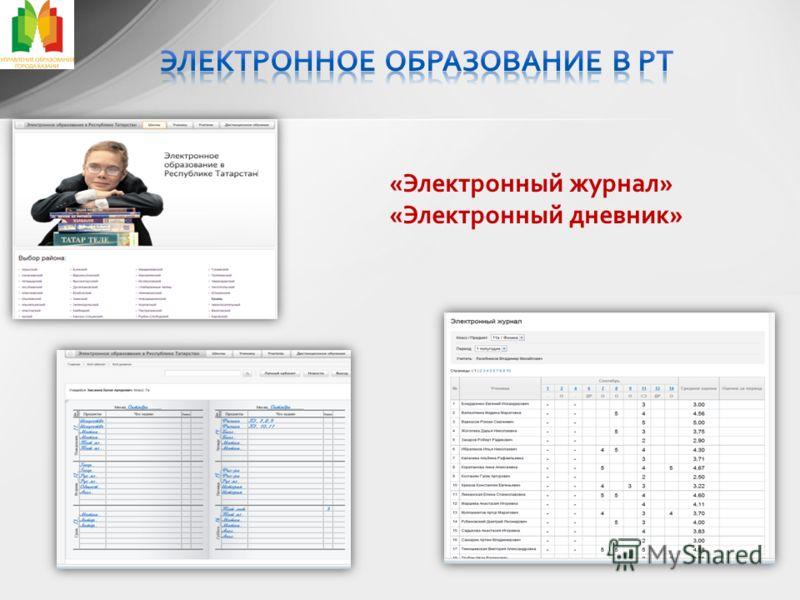 «Электронный журнал» «Электронный дневник»