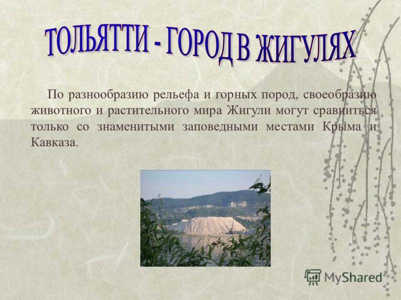 По разнообразию рельефа и горных пород, своеобразию животного и растительного мира Жигули могут сравниться только со знаменитыми заповедными местами Крыма и Кавказа.