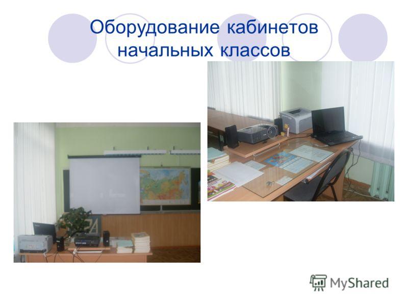 Оборудование кабинетов начальных классов
