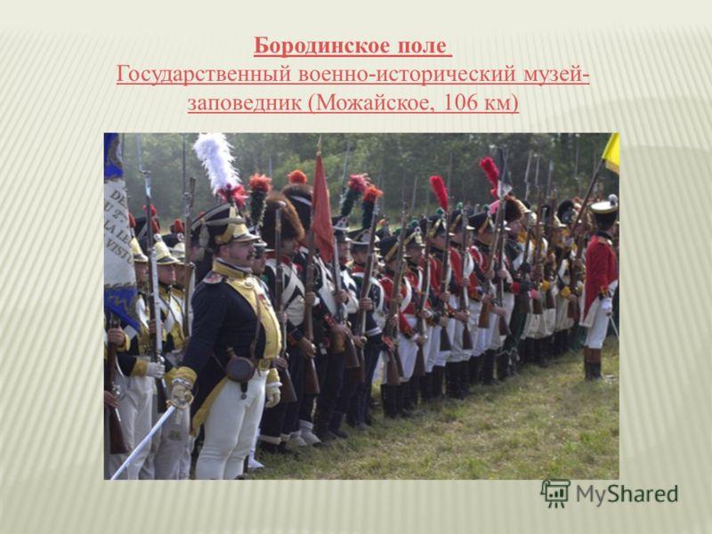 Бородинское поле Государственный военно-исторический музей- заповедник (Можайское, 106 км)