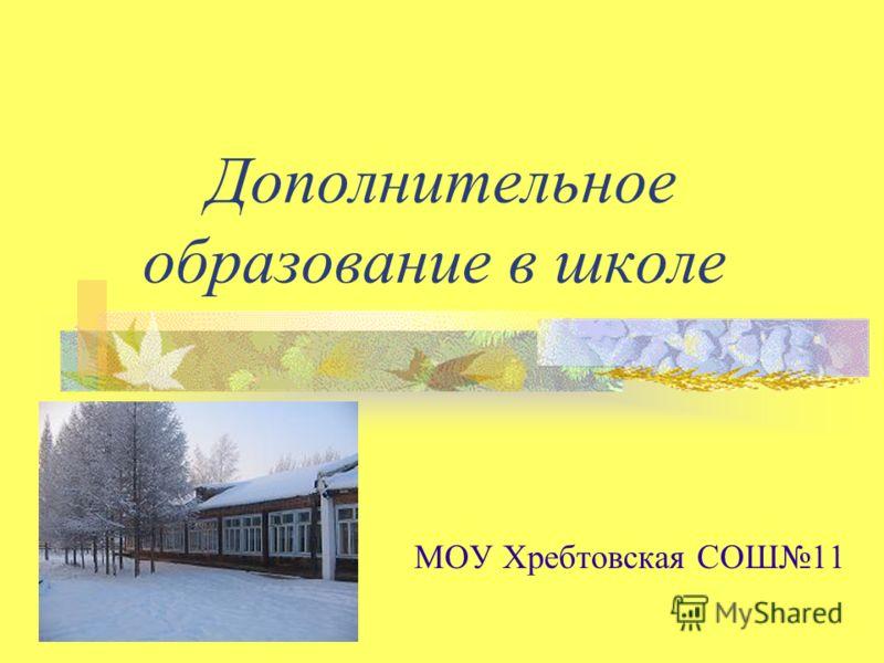 Дополнительное образование в школе МОУ Хребтовская СОШ11