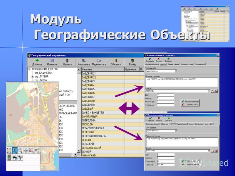 Модуль Географические Объекты