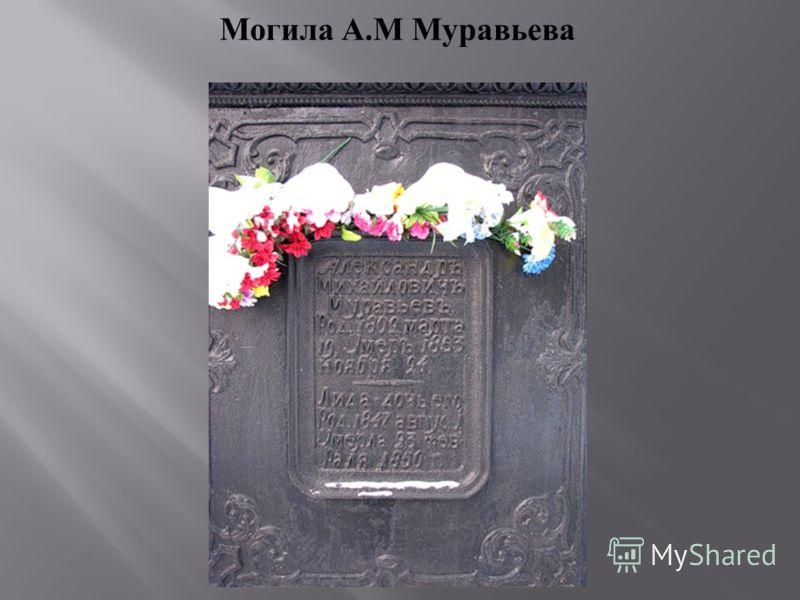 Могила А.М Муравьева