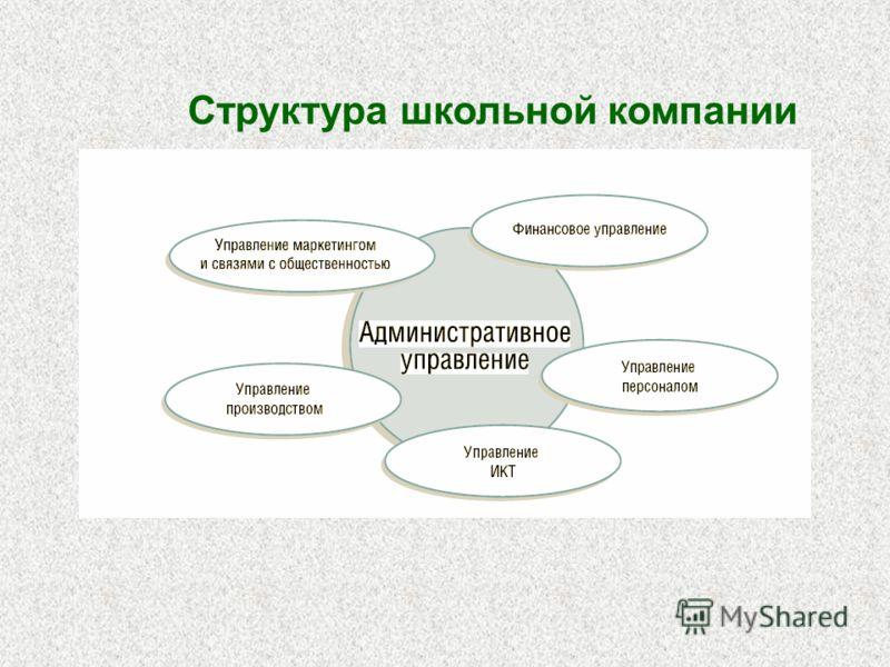Структура школьной компании
