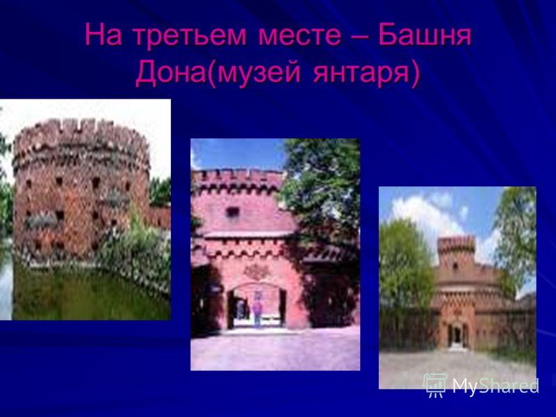 На третьем месте – Башня Дона(музей янтаря)