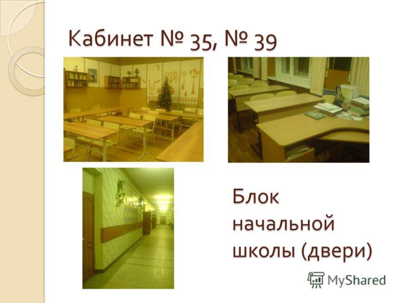 Кабинет 35, 39 Блок начальной школы ( двери )