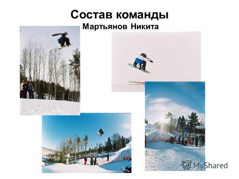 Состав команды Мартьянов Никита