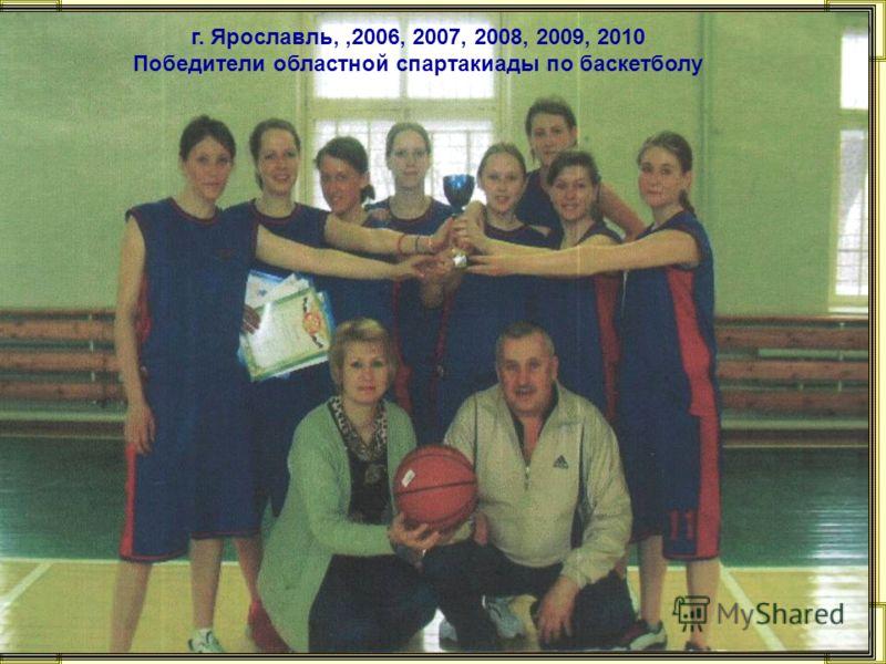 г. Ярославль,,2006, 2007, 2008, 2009, 2010 Победители областной спартакиады по баскетболу