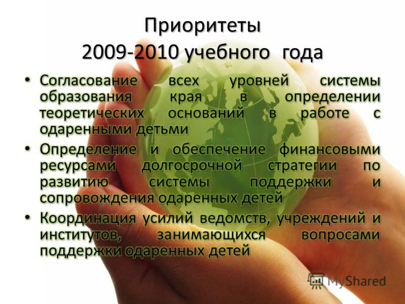 Приоритеты 2009-2010 учебного года
