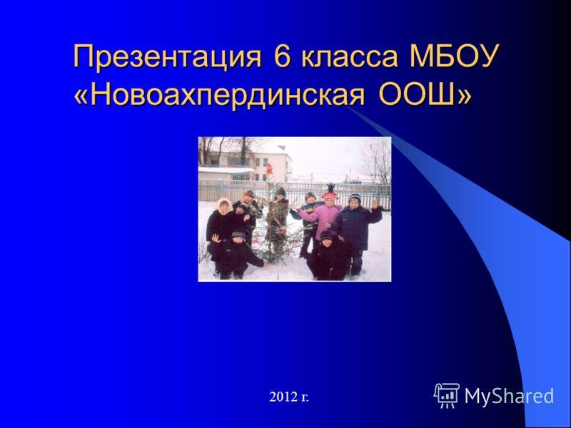 Презентация 6 класса МБОУ «Новоахпердинская ООШ» 2012 г.