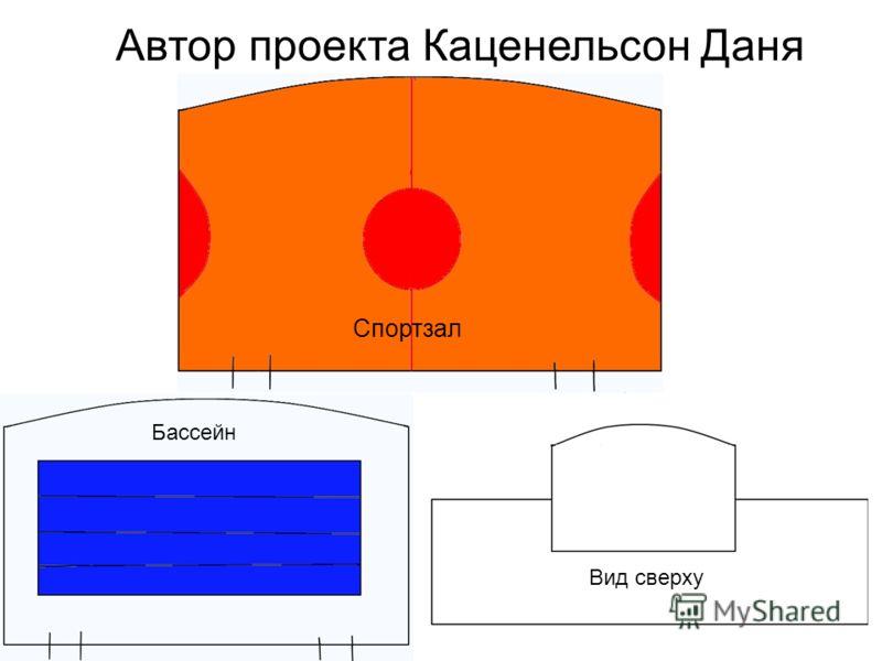 Автор проекта Каценельсон Даня Спортзал Вид сверху Бассейн