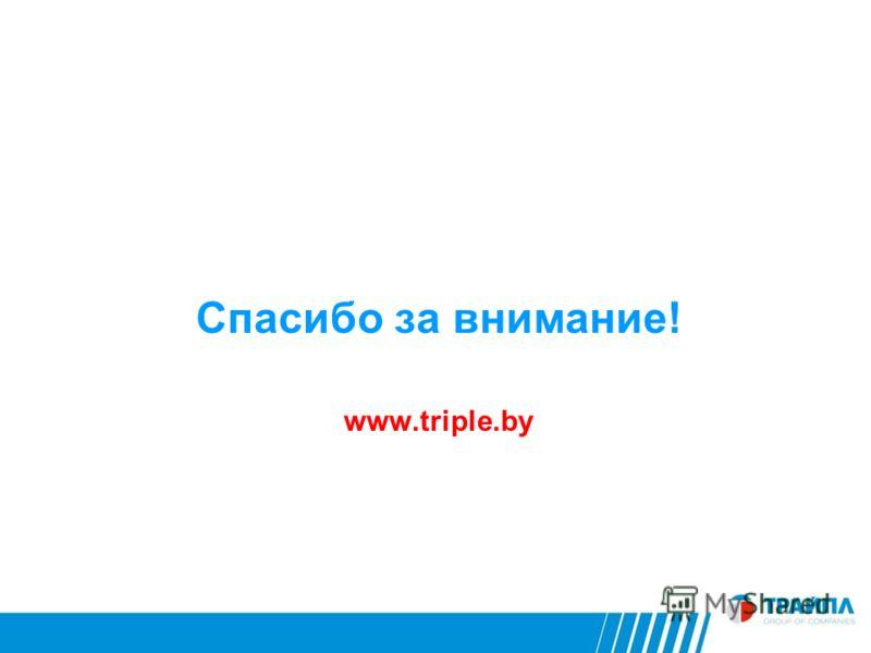 Спасибо за внимание! www.triple.by