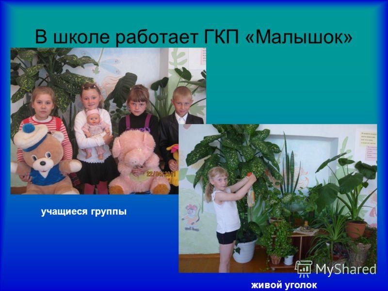 В школе работает ГКП «Малышок» учащиеся группы живой уголок