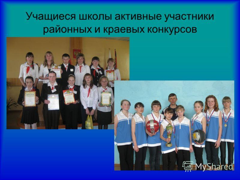 Учащиеся школы активные участники районных и краевых конкурсов