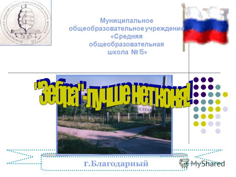 Муниципальное общеобразовательное учреждение « Средняя общеобразовательная школа 15» г.Благодарный