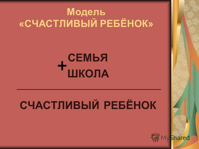 Модель «СЧАСТЛИВЫЙ РЕБЁНОК» СЕМЬЯ ШКОЛА СЧАСТЛИВЫЙ РЕБЁНОК