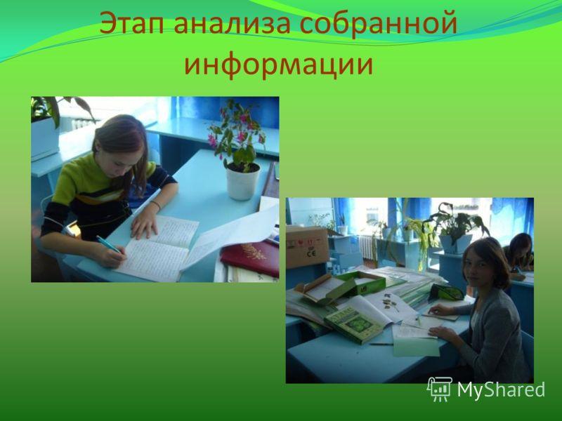 Этап анализа собранной информации