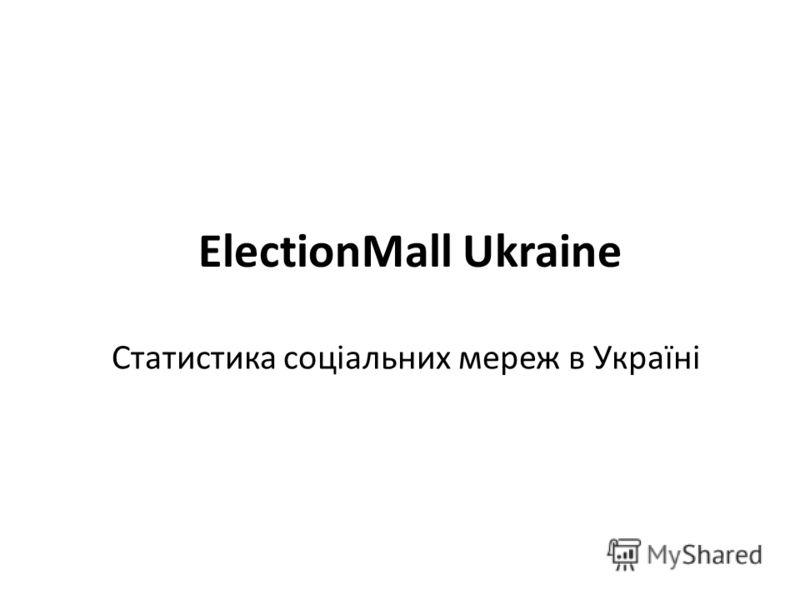 ElectionMall Ukraine Статистика соціальних мереж в Україні