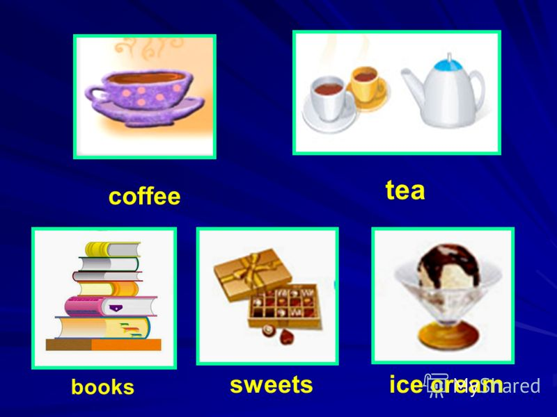 coffee tea books sweets ice cream