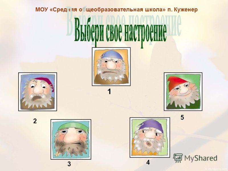 МОУ «Средняя общеобразовательная школа» п. Куженер 1 2 3 4 5