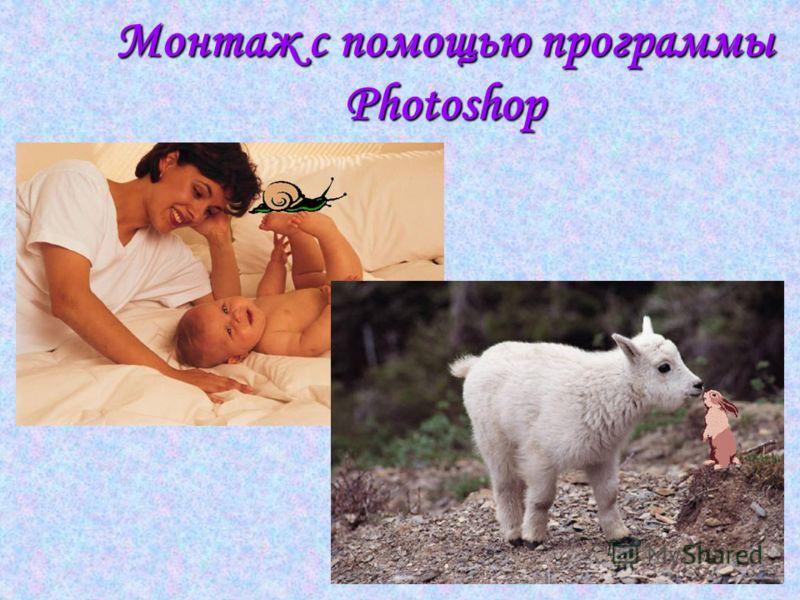 Монтаж с помощью программы Photoshop