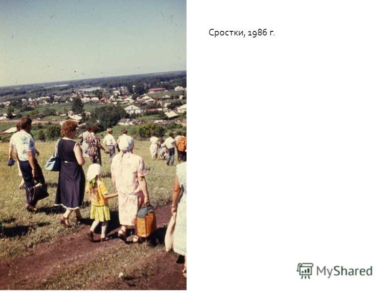 Сростки, 1986 г.