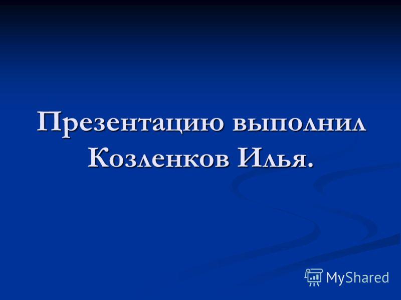 Презентацию выполнил Козленков Илья.