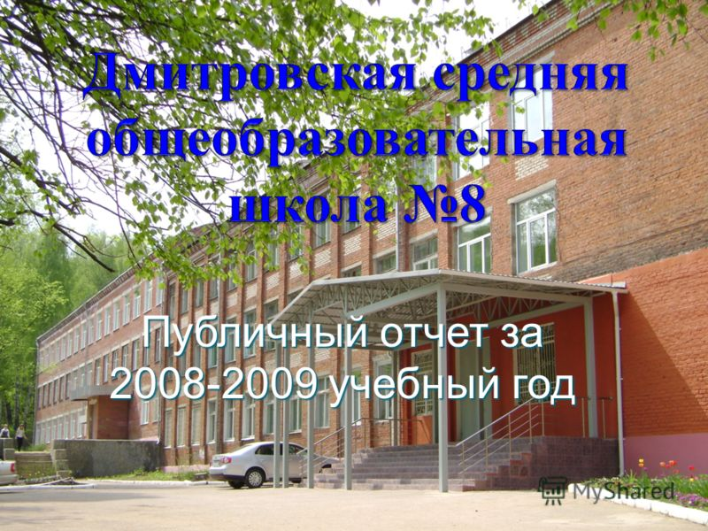 Публичный отчет за 2008-2009 учебный год
