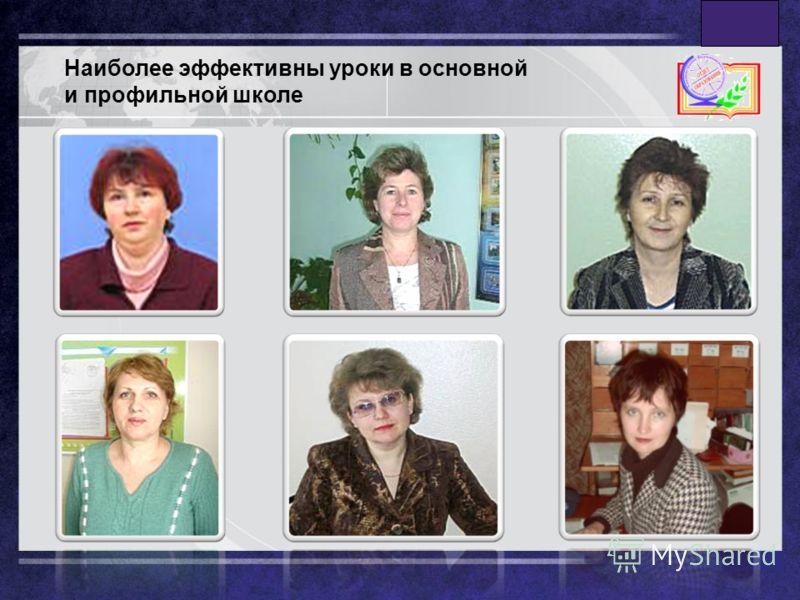 LOGO www.themegallery.com Наиболее эффективны уроки в основной и профильной школе