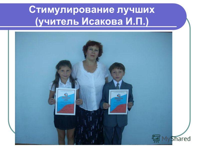 Стимулирование лучших (учитель Исакова И.П.)