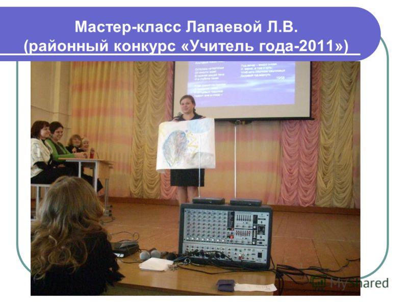 Мастер-класс Лапаевой Л.В. (районный конкурс «Учитель года-2011»)