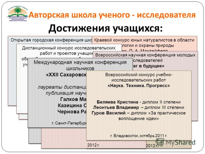 Презентация на тему Авторская школа ученого исследователя  6 Авторская