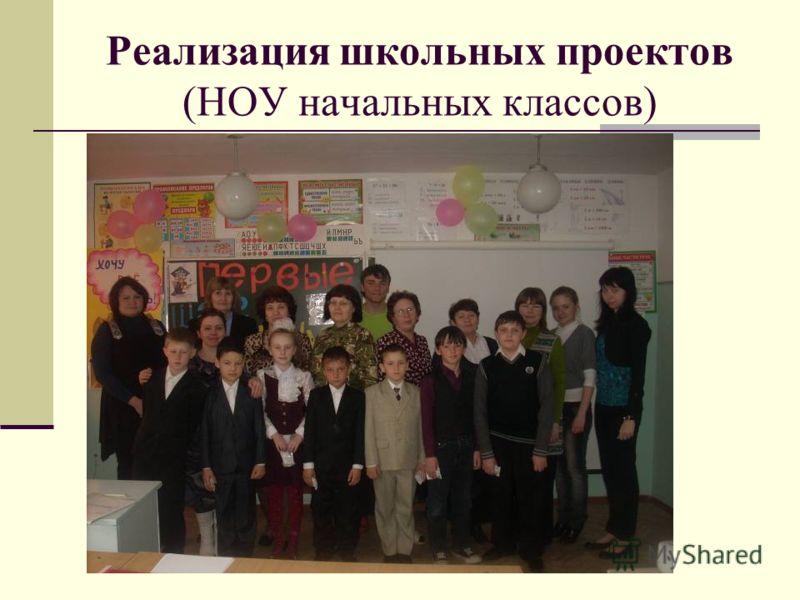 Реализация школьных проектов (НОУ начальных классов)