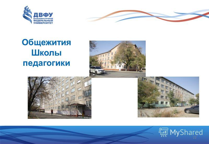 22 Общежития Школы педагогики
